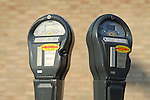 Parking meters.
