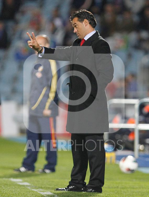 Getafe's coach Luis Garcia during La Liga match.October 26,2011. (ALTERPHOTOS/Acero)