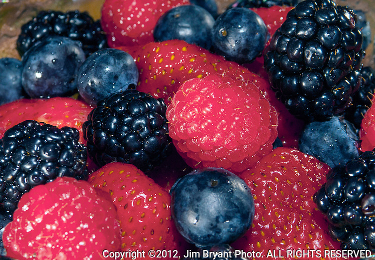 Strawberries, Blueberries, Raspberries, Blackberries have been popular throughout history because they are sweet, portable and versatile.    ©2012. Jim Bryant Photo. ALL RIGHTS RESERVED.