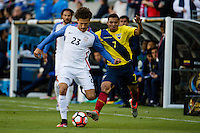 Seattle, WA - Thursday, June 16, 2016: United States defender Fabian Johnson (23) crosses the ball during a Quarterfinal match of the 2016 Copa America Centenrio at CenturyLink Field.