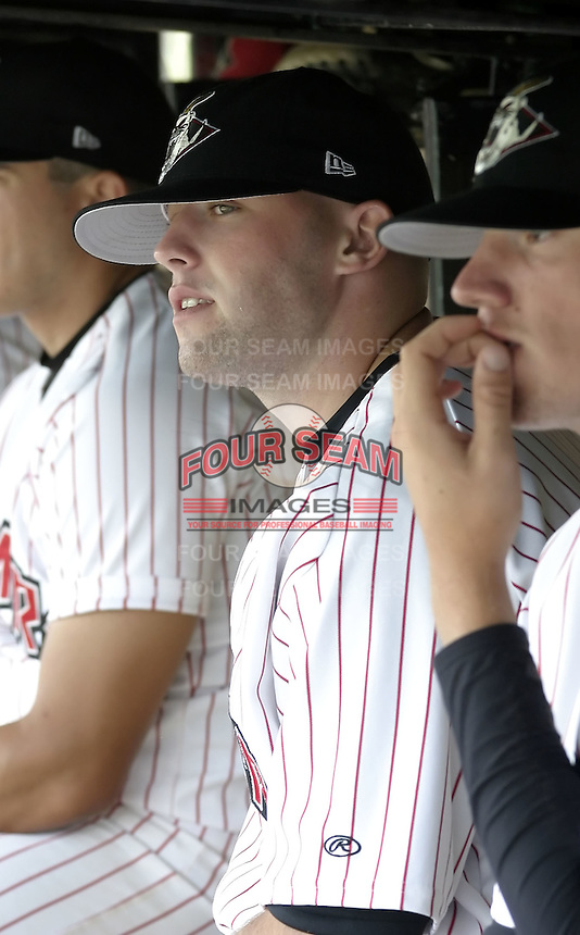 July 14, 2004:  Pitcher Taylor Tankersley of the Jamestown Jammers, Single-A NY-Penn League affiliate of the Florida Marlins, during a game at Russell Diethrick Park in Jamestown, NY.  Photo by:  Mike Janes/Four Seam Images