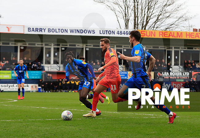 Andrew Shinnie of Luton Town during the Sky Bet League 1 match between Luton Town and Gillingham at Kenilworth Road, Luton, England on 16 March 2019. Photo by Liam Smith.