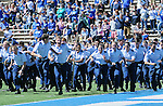 September 10, 2016 - Colorado Springs, Colorado, U.S. - Air Force cadets race to the stands prior to the NCAA Football game between the Georgia State Panthers and the Air Force Academy Falcons, Falcon Stadium, U.S. Air Force Academy, Colorado Springs, Colorado.  Air Force defeats Georgia State 48-14.