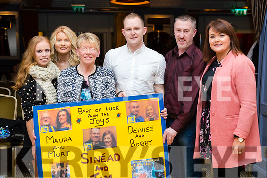 Michelle Lyne, Leanne Relihan, Kay Kerins, Dan Dillon, Liam Joy and Nora O'Sullivan, pictured at Ballymac Strictly Come Dancing, at Ballygarry House Hotel & Spa, Tralee, on Saturday night last.
