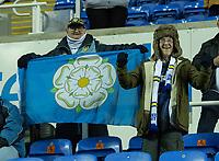 Leeds United fans<br /> <br /> Photographer David Horton/CameraSport<br /> <br /> The EFL Sky Bet Championship - Reading v Leeds United - Tuesday 12th March 2019 - Madejski Stadium - Reading<br /> <br /> World Copyright © 2019 CameraSport. All rights reserved. 43 Linden Ave. Countesthorpe. Leicester. England. LE8 5PG - Tel: +44 (0) 116 277 4147 - admin@camerasport.com - www.camerasport.com