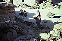 Iran 1983.In Garmave, village of Alan, district of Sardasht, a woman carrying bricks for heating.Iran 1983.Garmave, village de Alan, region de Sardasht: femme transportant des briques pour le chauffage