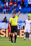 FIFA Referee Alireza Faghani of Iran gestures during the AFC Asian Cup UAE 2019 Round of 16 match between Jordan (JOR) and Vietnam (VIE) at Al Maktoum Stadium on 20 January 2019 in Dubai, United Arab Emirates. Photo by Marcio Rodrigo Machado / Power Sport Images