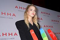 """Sasha Luss<br /> """"Anna"""" film premiere. Moscow, Russia - 01 Jul 2019<br /> **Not for sale in Russia or FSU**<br /> CAP/PER<br /> ©PER/CapitalPictures"""