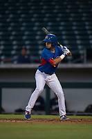 AZL Cubs designated hitter Reivaj Garcia (24) at bat during an Arizona League game against the AZL Brewers at Sloan Park on June 29, 2018 in Mesa, Arizona. The AZL Cubs 1 defeated the AZL Brewers 7-1. (Zachary Lucy/Four Seam Images)