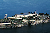 Aerial view of Alcatraz Prison. San Francisco California United States Alcatraz Prison.