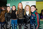 enjoying the Beale GAA Strictly Come Dancing in aid of the club on Tuesday 27th December in the Community Centre, Ballybunion were Maeve Scanlon, Orla Mulvihill, Sarah Jane Carmody, Niamh Stack and Katie Joy