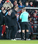 Liverpool's Jurgen Klopp gets told off by referee Bobby Madley during the Premier League match at the Vitality Stadium, London. Picture date December 4th, 2016 Pic David Klein/Sportimage