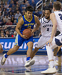 San Jose State guard Brian Rodriguez-Flores (33) drives against Nevada in the first half of an NCAA college basketball game in Reno, Nev., Wednesday, Jan. 9, 2019. (AP Photo/Tom R. Smedes)