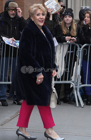 NEW YORK, NY - December 12: Guadalupe Rodriguez seen exiting The View in New York City on December 12, 2018. Credit: RW/MediaPunch