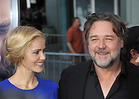 Russell Crowe &amp; Isabel Lucas at the Los Angeles premiere of their movie &quot;The Water Diviner&quot; at the TCL Chinese Theatre, Hollywood.<br /> April 16, 2015  Los Angeles, CA<br /> Picture: Paul Smith / Featureflash