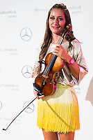 Violinist Elena Mikhailova pose to the media at MBFWM16 in Madrid. September 16, Spain. 2016. (ALTERPHOTOS/BorjaB.Hojas) /NORTEPHOTO