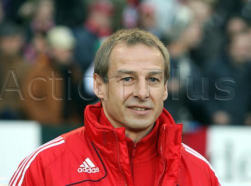 Munich?s coach Juergen Klinsmann captured during the Bundesliga match VfB Stuttgart vs Bayern Munich at Mercedes-Benz Arena in Stuttgart, Germany, 13 December 2008.