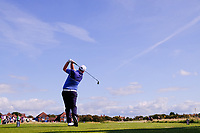 Caolan Rafferty  (GB&I) on the 2nd tee during the singles matches at the Walker Cup, Royal Liverpool Golf Club, Hoylake, Cheshire, England. 07/09/2019.<br /> Picture Fran Caffrey / Golffile.ie<br /> <br /> All photo usage must carry mandatory copyright credit (© Golffile | Fran Caffrey)