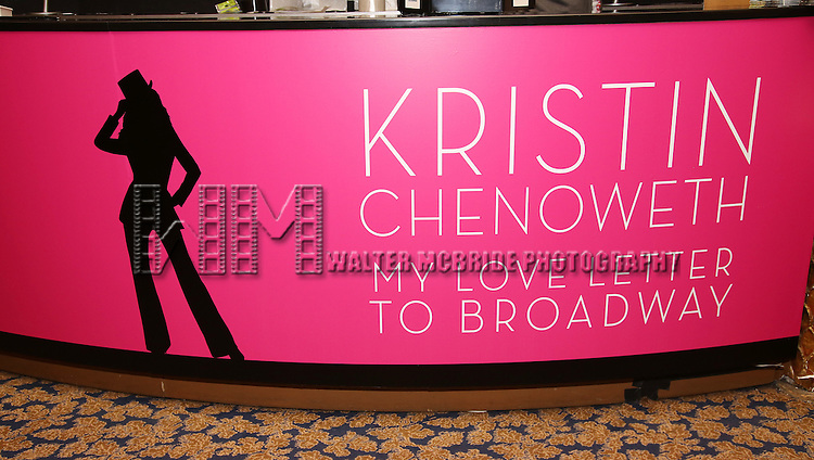 Merchandise shop in the theatre during the Opening Night of Kristin Chenoweth - 'My Love Letter To Broadway'  at the Lunt-Fontanne Theatre on November 2, 2016 in New York City.