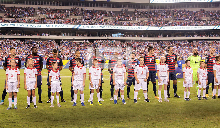 Philadelphia, PA - Wednesday July 19, 2017: USMNT starting eleven during a 2017 Gold Cup match between the men's national teams of the United States (USA) and El Salvador (SLV) at Lincoln Financial Field.