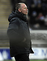 03/01/2009  Copyright Pic: James Stewart.File Name : sct_jspa17_falkirk_v_kilmarnock.FALKIRK MANAGER JOHN HUGHES LOOKS UNHAPPY AT DROPPING MORE POINTS.James Stewart Photo Agency 19 Carronlea Drive, Falkirk. FK2 8DN      Vat Reg No. 607 6932 25.Studio      : +44 (0)1324 611191 .Mobile      : +44 (0)7721 416997.E-mail  :  jim@jspa.co.uk.If you require further information then contact Jim Stewart on any of the numbers above.........