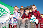 GREEN TEAM: Members of the Mountcollins National School Green Team who were presented with their first Green Flag at a function in Cork last week..L/r. Cartiona Lenihan, Rachel Duffy, Corneil O'Reilly and Muireann Hickey.   Copyright Kerry's Eye 2008