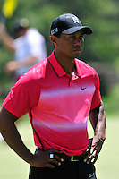 Gainesville, VA - August 2, 2015:  Tiger Woods in deep thought on the eleventh hole at the Robert Trent Jones Golf Club in Gainesville, VA. August 2, 2015. Tiger finished the tournament -8 after being tied for second following round two. (Photo by Philip Peters/Media Images International)