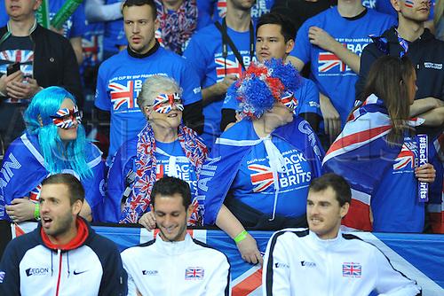 27.11.2015. Belgium. Davis Cup Final, Great Britain versus Belgium. Day 1 play.  fans