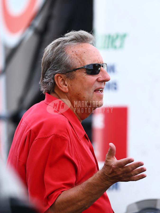 Jun 21, 2015; Bristol, TN, USA; NHRA team owner Don Schumacher during the Thunder Valley Nationals at Bristol Dragway. Mandatory Credit: Mark J. Rebilas-