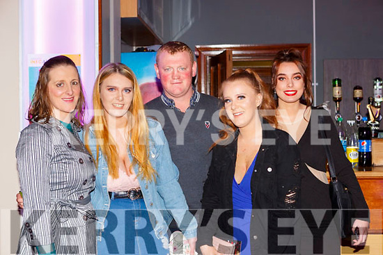 Catriona, Laura, Fred and Leanne O'Connor with Caitlin Daly Scartaglen at the Loco Bingo in the INEC on Friday night