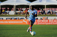 Anita Asante (5) of Sky Blue FC. The Western New York Flash defeated Sky Blue FC 4-1 during a Women's Professional Soccer (WPS) match at Yurcak Field in Piscataway, NJ, on July 30, 2011.