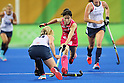Mie Nakashima (JPN), <br /> AUGUST 11, 2016 - Hockey : <br /> Women's Pool Match <br /> between Japan Women's 0-2 Great Britain Women's <br /> at Olympic Hockey Centre <br /> during the Rio 2016 Olympic Games in Rio de Janeiro, Brazil. <br /> (Photo by YUTAKA/AFLO SPORT)