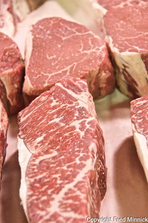 Steak, marbling, Prime, USDA, Choice, Rib Steak, Filet, New York Strip, Angus, Kobe