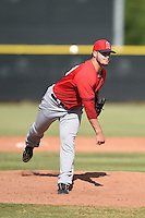 Los Angeles Angels of Anaheim pitcher Nick Wagner (53) during an Instructional League game against the Milwaukee Brewers on October 9, 2014 at Tempe Diablo Stadium Complex in Tempe, Arizona.  (Mike Janes/Four Seam Images)