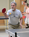 Wayne Lenhares plays ping pong at the Carson City Senior Citizen Center in Carson City, Nev., on Wednesday, Aug. 22, 2012..Photo by Cathleen Allison