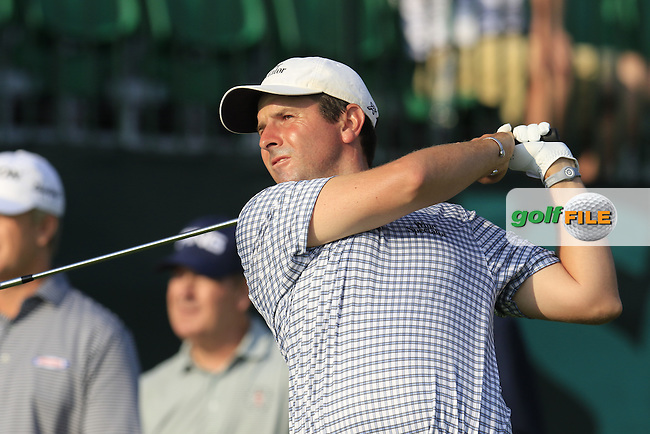 Thomas Aiken (RSA) tees off the 10th tee to start his match during Thursday's Round 1 of the 2016 U.S. Open Championship held at Oakmont Country Club, Oakmont, Pittsburgh, Pennsylvania, United States of America. 16th June 2016.<br /> Picture: Eoin Clarke | Golffile<br /> <br /> <br /> All photos usage must carry mandatory copyright credit (&copy; Golffile | Eoin Clarke)