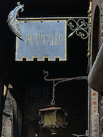 The sign at Pappagallo, Bologna. The Pappagallo Restaurant in Bologna was established in 1919. It continues to serve traditional Bolognese cuisine. Photo Sydney Low