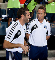 Ben Olsen, John Hackworth.  The MLS All-Stars defeated Chelsea, 3-2.
