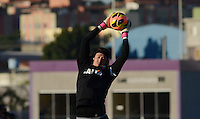 SÃO PAULO,SP, 05 julho 2013 -   Cassio durante treino do Corinthians no CT Joaquim Grava na zona leste de Sao Paulo, onde o time se prepara  para para enfrenta o Bahia pelo campeonato brasileiro . FOTO ALAN MORICI - BRAZIL FOTO PRESS