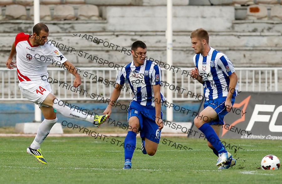Fudbal Super liga season 2013-2014<br /> OFK Beograd v Vozdovac<br /> Nemanja Obradovic left<br /> Beograd, 10.08.2013.<br /> foto: Srdjan Stevanovic/Starsportphoto &copy;