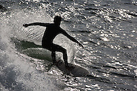 Surfer from Fort Point, a National Historic Site, San Francisco, California