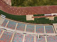 Vista aerea de Complejo deportivo de la Comisi&oacute;n Estatal de Deporte, CODESON en Hermosillo, Sonora....<br /> <br /> Grader&iacute;o, Gradas y butacas del Estadio H&eacute;roe de Nacozari. Muchos, Varios. <br /> Azul y Rojo.<br /> Pista de Atletismo, <br /> <br /> <br /> Photo: (NortePhoto / LuisGutierrez)<br /> <br /> ...<br /> keywords: