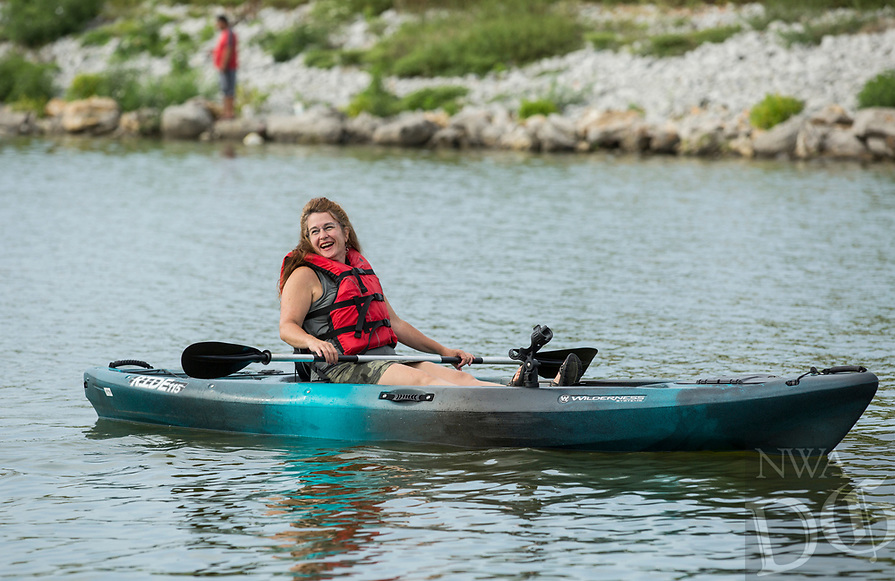 NWA Democrat-Gazette/BEN GOFF @NWABENGOFF<br />  Saturday, Aug. 10, 2019, during the Heroes on the Water event at Lake Fayetteville.