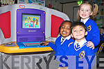 SMART KIDS: Using the new IBM Kidsmart Computers in CBS Primary School on Tuesday morning from l-r were: Ebose Anegbode, Cliona Daughton and Kevin Demeter.   Copyright Kerry's Eye 2008