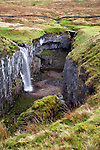 Waterfall at Hull Pot Horton in Ribblesdale North Yorkshire England