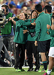(L-R)  Asako Takakura,  Obe Yumi (JPN), JUNE 2, 2016 - Football / Soccer : Japan head coach Asako Takakura (L) celebrates their 3rd goal during the Women's International Friendly match between United States 3-3 Japan at Dick's Sporting Goods Park in Commerce City, Colorado, United States. (Photo by AFLO)