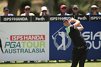 Danny Willett (ENG) in action on the 2nd during Round 1 of the ISPS Handa World Super 6 Perth at Lake Karrinyup Country Club on the Thursday 8th February 2018.<br /> Picture:  Thos Caffrey / www.golffile.ie<br /> <br /> All photo usage must carry mandatory copyright credit (&copy; Golffile | Thos Caffrey)