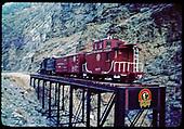 D&amp;RGW display train on Cimarron Bridge.<br /> D&amp;RGW  Cimarron, CO