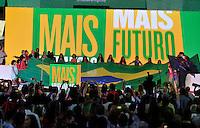 BRASILIA, DF; 21.06.14 O Partido dos Trabalhadores (PT) tornou oficial neste sábado (21) a candidatura da presidente Dilma Rousseff à reeleição. O nome de Dilma foi confirmado durante convenção nacional do partido; realizada em Brasília.Foto Renato Araújo/Brazil Photo Prss