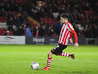 Lincoln City's Tom Pett misses his penalty<br /> <br /> Photographer Andrew Vaughan/CameraSport<br /> <br /> The EFL Checkatrade Trophy Northern Group H - Lincoln City v Wolverhampton Wanderers U21 - Tuesday 6th November 2018 - Sincil Bank - Lincoln<br />  <br /> World Copyright © 2018 CameraSport. All rights reserved. 43 Linden Ave. Countesthorpe. Leicester. England. LE8 5PG - Tel: +44 (0) 116 277 4147 - admin@camerasport.com - www.camerasport.com